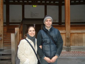 FLASHBACK! At The Globe with one of my directors.