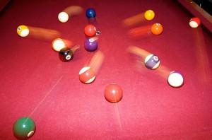 ending a meeting like scattered billiard balls