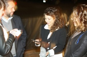 This was a posed photo. Don't worry. I wasn't texting while talking to people.